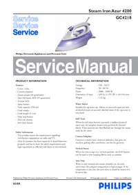 Manual de servicio Philips Azur 4200 GC4218