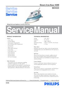 Manual de serviço Philips Azur 4200 GC4223