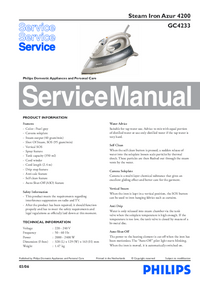 Service Manual Philips Azur 4200 GC4233