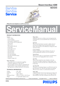 Service Manual Philips Azur 4200 GC4243