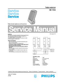 Manual de servicio Philips HB 172/A