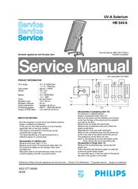 Serviceanleitung Philips HB 544/A