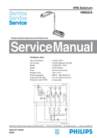 Instrukcja serwisowa Philips HB822/A
