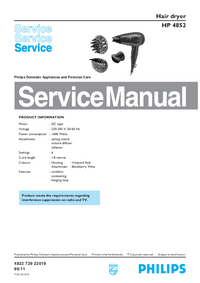 Manual de servicio Philips HP 4852