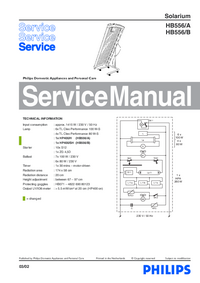 Service Manual Philips HB556/B
