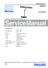 Manual de servicio Philips HB950/A