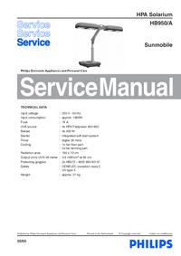 Руководство по техническому обслуживанию Philips HB950/A