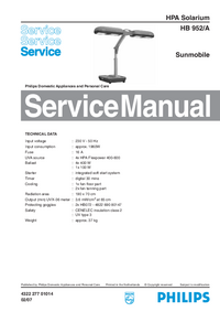 Manual de servicio Philips HB 952/A