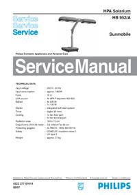 Servicehandboek Philips HB 952/A