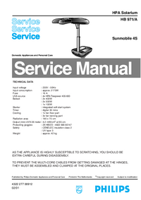 Manual de servicio Philips HB 971/A
