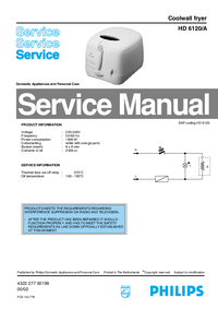 Manual de servicio Philips HD 6120/A
