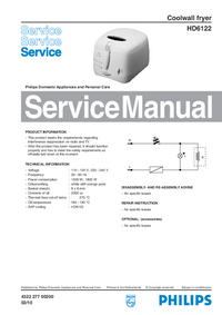 Manual de servicio Philips HD6122
