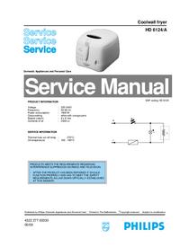 Manual de serviço Philips HD 6124/A