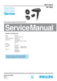 Manual de serviço Philips HP 4853