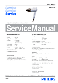 Manual de servicio Philips HP4856