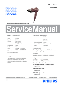 Manual de servicio Philips HP4858