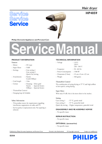 Manual de servicio Philips HP4859