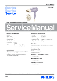 Manual de servicio Philips HP4861