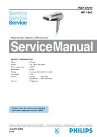 Manuale di servizio Philips HP 4862