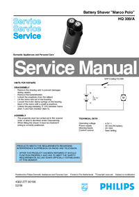 Manual de servicio Philips Marco Polo HQ 300/A