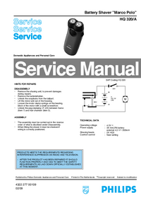 Manual de servicio Philips Marco Polo HQ 320/A