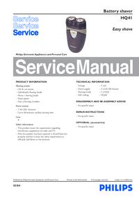 Manual de serviço Philips Easy shave HQ41