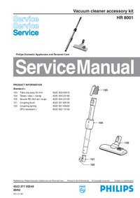 Service Manual Philips HR 8001