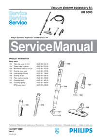 Manual de servicio Philips HR 8003