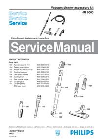 Руководство по техническому обслуживанию Philips HR 8003