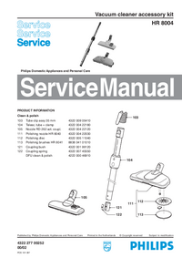 Manual de servicio Philips HR 8004