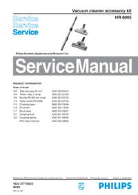 Manuale di servizio Philips HR 8005