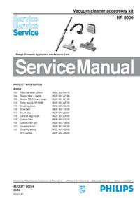 Manual de serviço Philips HR 8006