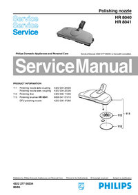 Service Manual Philips HR 8040