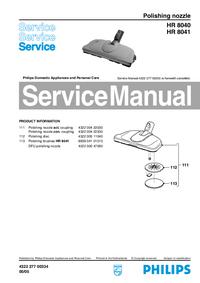 Manual de serviço Philips HR 8041