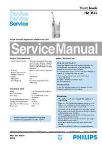Service Manual Philips HX 2535