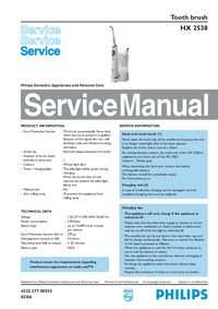 Manual de servicio Philips HX 2538