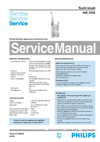 Manual de servicio Philips HX 2545