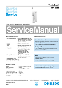 Service Manual Philips HX 2565
