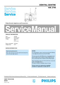 Manual de servicio Philips HX 2740