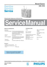 Manual de serviço Philips HX 2745