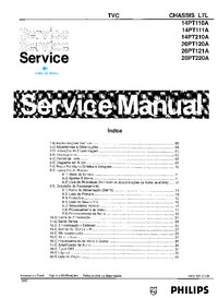 Manual de servicio Philips 20PT121A