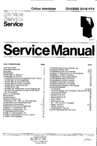 Service Manual Philips G110 PTV