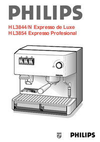 User Manual Philips HL3854 Expresso Profesional