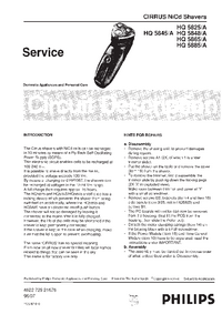 Manual de servicio Philips HQ 5825/A