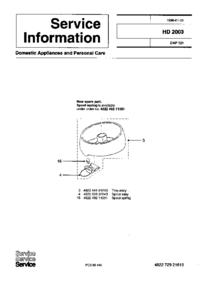 Руководство по техническому обслуживанию дополнения Philips HD 2003