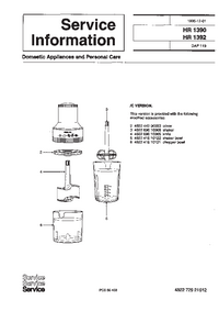 Dodatek Instrukcja Serwisowa Philips HR 1390