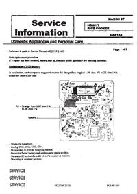 Dodatek Instrukcja Serwisowa Philips HD 4517