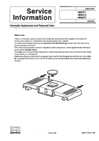 Manuale di servizio Supplemento Philips HR 6377