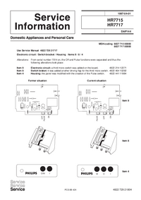 Service Manual Supplement Philips HR 7715