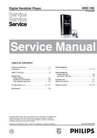 Manual de servicio Philips HDD 100